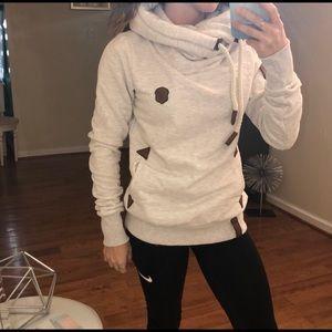 Naketano Tops - Cream Naketano Hoodie Sweatshirt